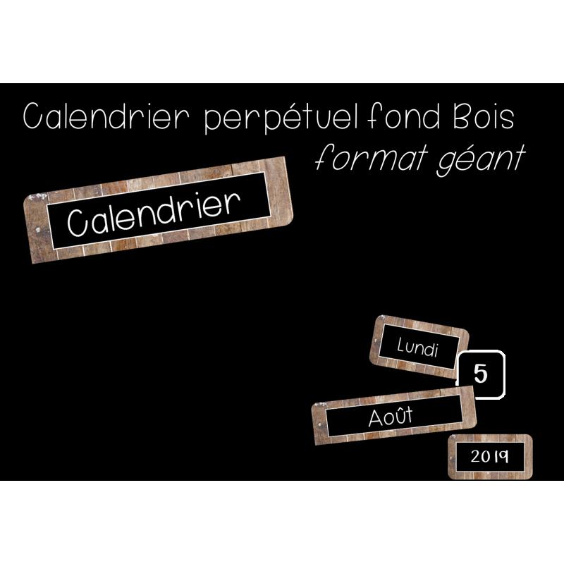 Calendrier Geant.Calendrier Perpetuel Style Bois De Grange