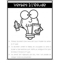 Verbe 3e cycle_indicatif présent Partie 1 et 2