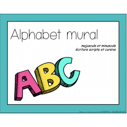 Alphabet mural- script & cursif