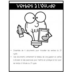 Cahier d'étude des verbes 2e cycle