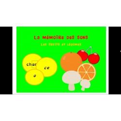 La mémoire des sons: Les fruits et légumes