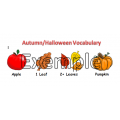 Fall - Halloween Vocabulary