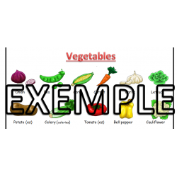 Food vocabulary - Vocabulaire Alimentaire