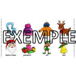 Vocabulaire hiver / Winter Christmas vocabulary