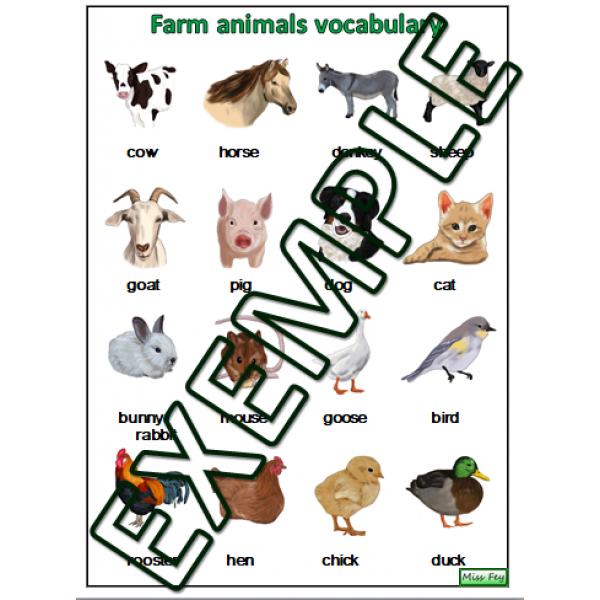 Vocabulaire animaux / Farm animals vocabulary