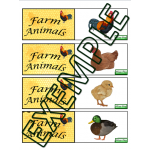 Jeu mémoire animaux / Farm animals memory game