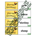 Jeu mémoire animaux / Farm animals memory game