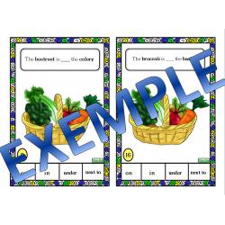 Cartes à tâche / Food preposition task cards