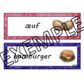 Nourriture mots-étiquettes