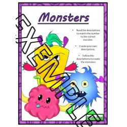 Monsters - Reading comprehension task cards