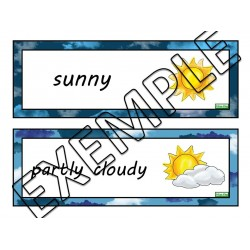 Weather word walls