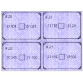 Cartes à tâches - comparaison de nombres