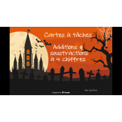 Cartes à tâches Halloween