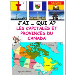 Les provinces/territoires et capitales du Canada