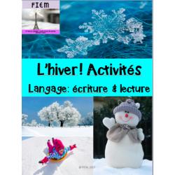 """""""L'hiver! Activités"""" Langage"""