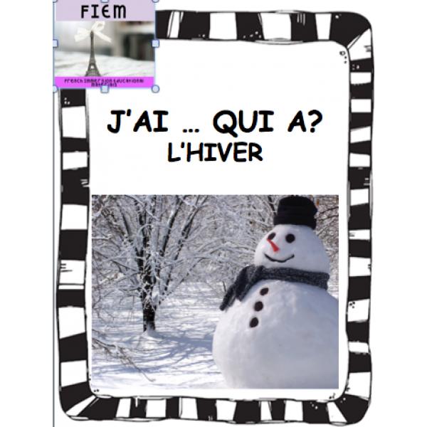 L'hiver, J'ai ... qui a? JEU