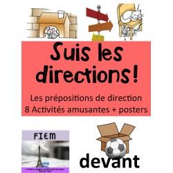 """""""Prépositions de position"""", Activités"""