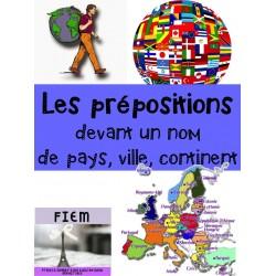 Les prépositions devant un pays/ville/continent