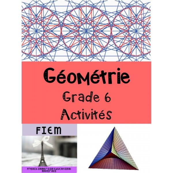 Géométrie: Evaluation, Grade 6