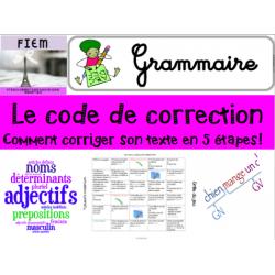 Le code de correction: Ecriture, jeu