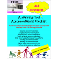 Accommodations Checklist: Teacher Resource