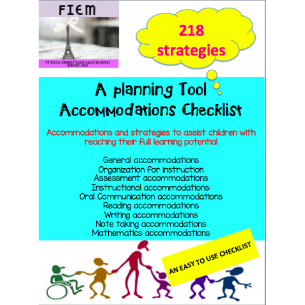 Accommodations Checklist: Teacher Resource