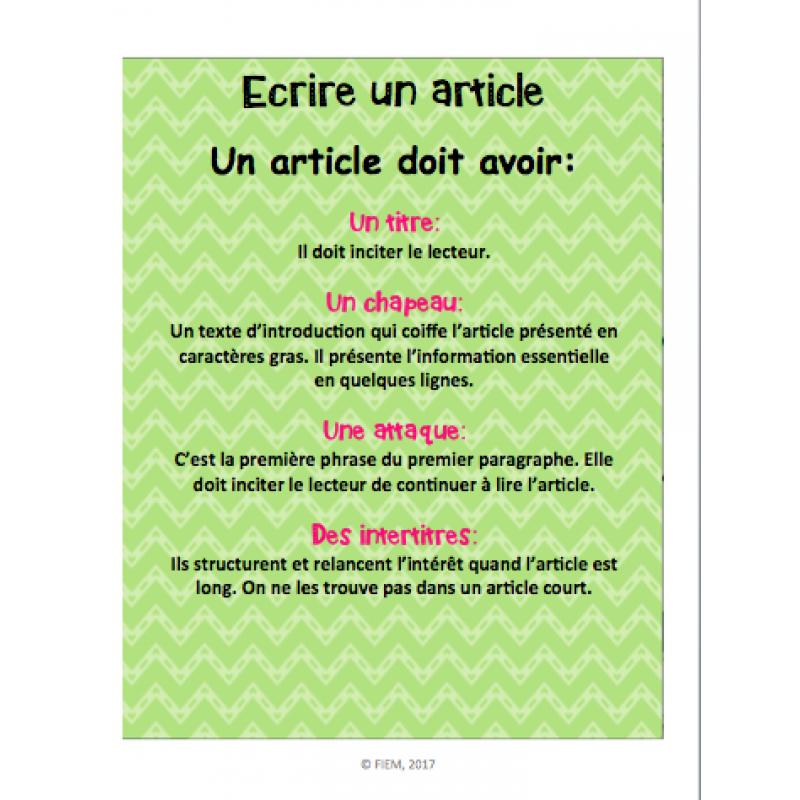 Comment crire un article de journal - Comment faire un journal ...