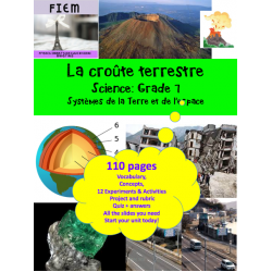 La croûte terrestre, Science 7, 110 pages