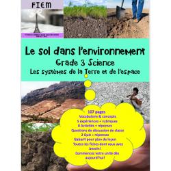 Le sol dans l'environnement, Science Grade 3