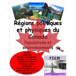 Les régions physiques et politiques du Canada