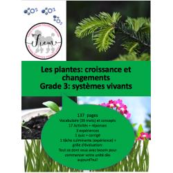 La croissance des plantes, Sciences 3, 137 fiches