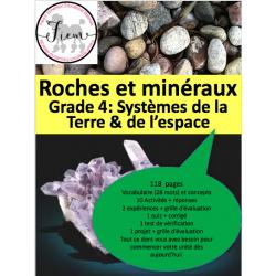 Les roches et minéraux, Gr.4, 118 fiches