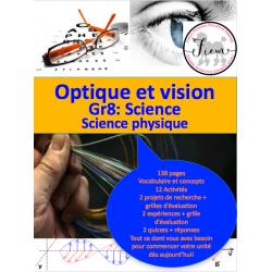 La vision et l'optique, Gr.8 Science