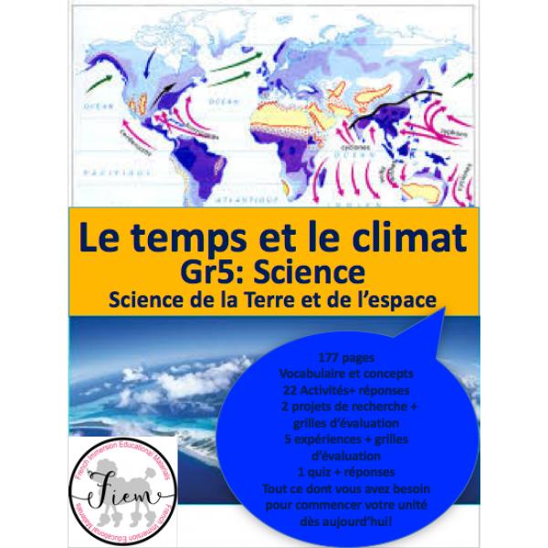 Le temps & le climat, Gr 5, Sciences