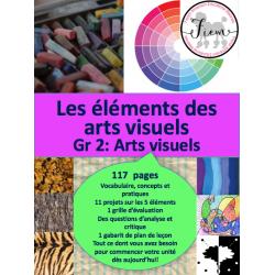 Les éléments des arts visuels, Gr.2, 117 fiches