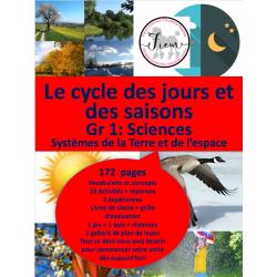 Le cycle des jours/saisons, Sciences 1, 172 fiches