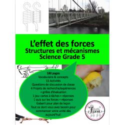 L'effet des forces, Science 5, 180 fiches