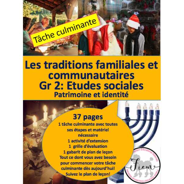 Traditions familiales/communautaires, Projet Gr2