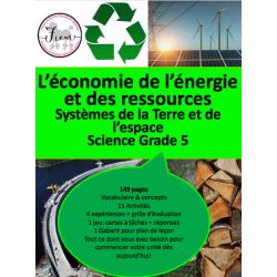 Economie de l'énergie & ressources, Science5