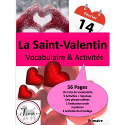La St-Valentin: Lang/activ/bricolage 56 pages