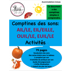 les comptines & sons AIL, EIL, OUIL, EUIL