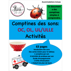 Les comptines & sons OC, OL/OLLE, UL/ULLE