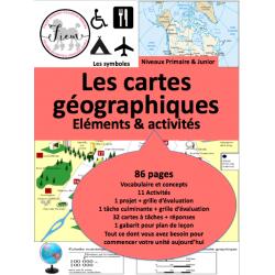 Les cartes géographiques & éléments, 86 fiches