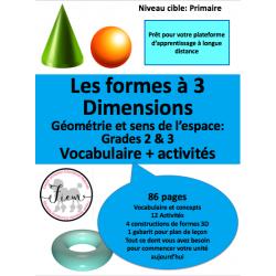 Géométrie: Les formes à 3 dimensions, 86 pages