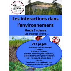 Interactions dans l'environnement, 217 fiches
