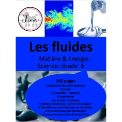 Les fluides, Gr.8, 242 fiches
