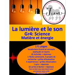 La lumière et le son, Gr.4, 171 fiches