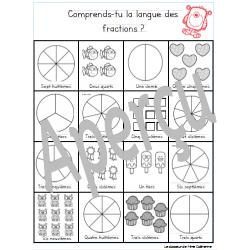Atelier pour fractions (vocabulaire)