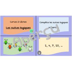 Cartes à tâches : suites logiques