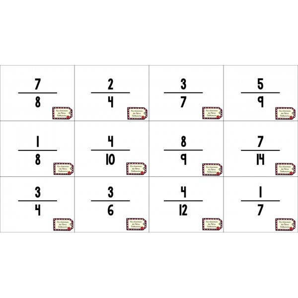Comparaison de fractions à 1/2